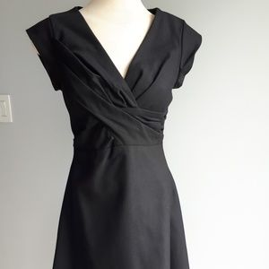 Black wool dress size small